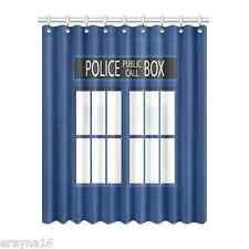"Police Box Tardis Polyester Window Curtain 52"" x 63"" (132 cm x 160 cm)"