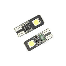 New listing T10 Car Dashboard Led Light Bulbs 2-Smd 5050 Canbus Error Free White 2pcs