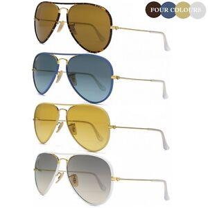 New Ray Ban Aviator RB3025JM Gold & Havana Brown Blue Yellow or White Sunglasses