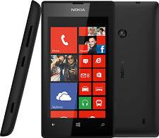Nokia Lumia 520 Black 4'' Screen 5MP Camera Windows 8 Unlocked Phone *Never Used