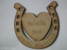 Personalised Wedding Gift -Just Married or any Occasion Horse Shoe with text
