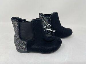 NEW! Cherokee Toddler Girl's Dilana Zip Up Booties Black/Multi #17730 71G tz