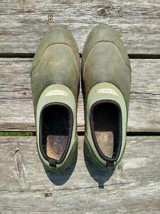 Muck Boot Co Waterproof Muckster Low Shoes Black / Green Mens 12-1/2