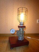 Steampunk Loft Industrial Vintage Soviet Car Carburetor Desk Lamp Leather Light