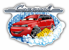 "Car Washing Sign Car Bumper Sticker Decal 5"" x 4"""