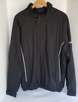 Dry Joys By FJ Footjoy Men's Black Half Zip, Wind, Rain, Pullover Jacket Sz L