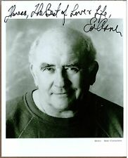 "Ed Asner, Television Actor, Signed 8"" x 10"" B & W Photo, Coa, Uacc Rd 036"