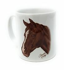 Diseñador CHRISTINE VARLEY marrón oscuro Pony Caballo hecho en el RU