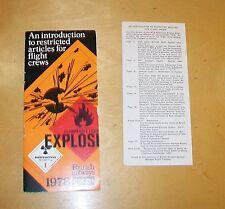BRITISH AIRWAYS CARGO 1978 RESTRICTED ARTICLES FOR FLIGHT CREWS BOOKLET