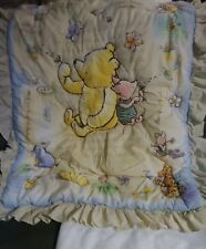 CLASSIC WINNIE THE POOH & HIS FRIENDS BABY COVER CRIB skirt pre owned