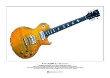 Paul Kossoff's Sunburst Gibson Les Paul Limited Edition Fine Art Print A3 size