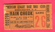 SUPER RARE 1915 TICKET STUB-6/19/15-SENATORS/TIGERS-TY COBB HIT/WALTER JOHNSON