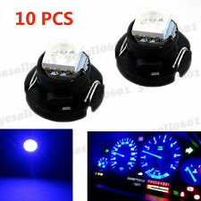 10x Blue T4.7 T5 Neo Wedge LED Bulbs Dash Climate Control Instrument Base Light