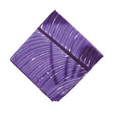 NWT RODA Violet Purple Palm Leaf Print Cotton Pocket Square