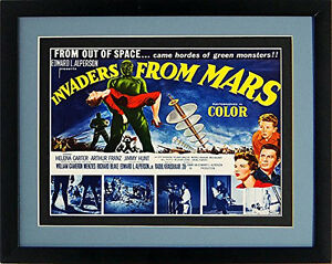 Invaders From Mars Movie Poster Classic Framed & Mated 12 X15 Inches