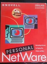 Novell personal netware networking software - for DOS AND MS WINDOWS