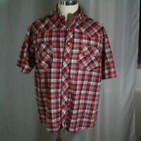 Wrangler Rustler Western Shirt  Pearl  Snap  Size XL