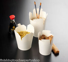 10 Takeaway Round Food Boxes 16 Oz - for Chinese Noodles Rice