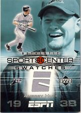 2005 UD ESPN Aubrey Huff Game Used Sportcenter Swatch Game-Used Jersey Rays