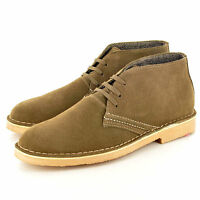 New Mens Leather Classic Desert Ankle Boots Shoes Available In UK Sizes  6-11