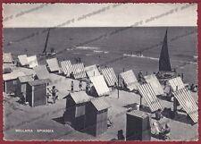 RIMINI BELLARIA IGEA MARINA 29 SPIAGGIA BAGNI Cartolina viaggiata 1950