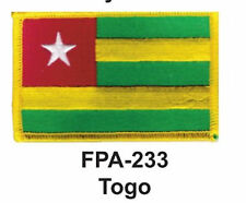 """2-1/2'' X 3-1/2"""" TOGO Flag Embroidered Patch"""
