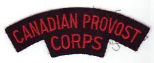 vintage Canada CANADIAN Armed Forces PROVOST CORPS shoulder badge flash patch