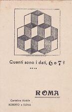 * ENIGMISTICA - Roma, Cartolina Mobile - Quanti sono i dadi?