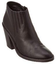 NEW Aquatalia Loren Weatherproof Black Leather Booties, Women Size 10.5 $495