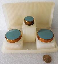 Sirram beauty box vintage 1940s 1950s post-war vanity set bottles jars Marris