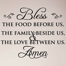 "29"" Bless the Food Before Us Family Beside Us Love Between Us Wall Decal Sticker"
