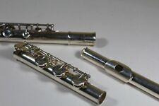 Pearl PF-525 flute, silver plated, B foot, closed hole keys
