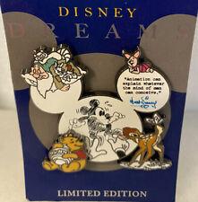 Disney Dreams Bambi Mickey Piglet Pooh Sleepy Dwarf Le 1000 Animation Pin