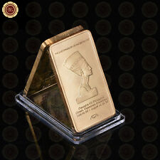 WR Iron 1 TROY OZ Gold Bar Collectable VII Greek Bullion Ingot Bar Gifts for Him
