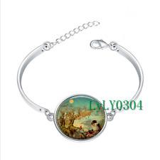 Night Before Christmas glass cabochon Tibet silver bangle bracelets wholesale