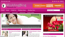 Wedding Info Tips Niche website Affiliate  Money  Free Hosting + Installation