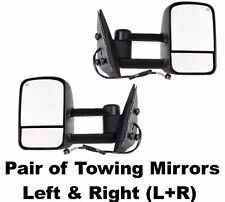CHEVY/ GMC 03-07 POWER HEATED EXTENDABLE TOWING MIRROR SET PAIR LED SILVERADO