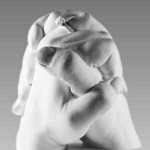 """3D Handabdruck Paar, Gipsabdruck Set Hochzeit """"Wedding Hands"""""""