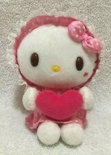"RARE 2007 Sanrio Baby Hello Kitty 6"" Plush Toy Stuffed Animal Heart Japan Cute"