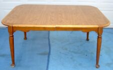 ETHAN ALLEN MAPLE WOOD DINNING ROOM TABLE