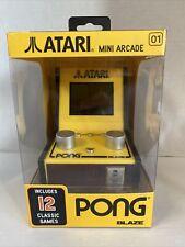 Atari Mini Arcade Pong 2 Players 12 Classic Games NEW
