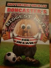 Son in law birthday greetings card - Doncaster fan