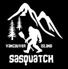 SASQUATCH- VANCOUVER ISLAND SASQUATCH WITH PADDLE DECAL/STICKER