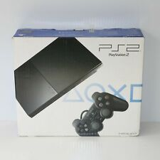 SLIMLINE SLIM SONY PS2 CHARCOAL BLACK PLAYSTATION 2 PSTWO CONSOLE - NEW