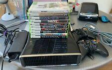 Microsoft Xbox 360 S Slim 4GB Model 1439 Black Console W/ Games - PERFECT!