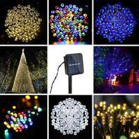 100/200 LED Solar Power String Fairy Light Garden Christmas Outdoor Party Decor