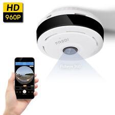 NEW WiFi Wireless IP Security Camera Wide Angle 360 Degree Fisheye Camera FREDI