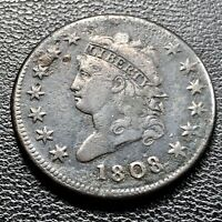 1808 Large Cent Classic Head One Cent 1c Better Grade #8737