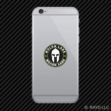Molon Labe Green Circle Cell Phone Sticker Mobile Come Take Them 2A v3c