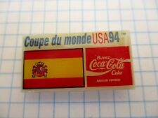 FLAG SPAIN PIN BADGE DRAPEAU ESPAGNE CUP FOOT 94 COCA COLA VINTAGE PINS us4/3